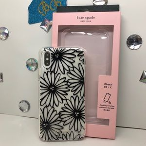 KATE♠️SPADE FLORAL JEWELED DAISY IPHONE XS/X CASE